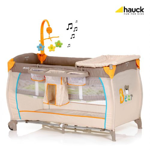Hauck Baby Centre Travel Cot (Bear)